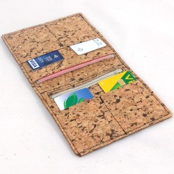 Cork wallet , black color sewing