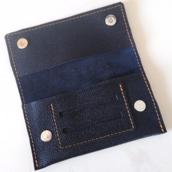 Leather tobacco pouch black coloured