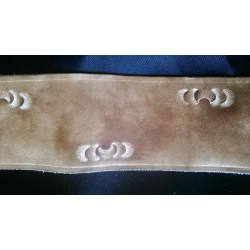 Leather guitar strap, bush pattern