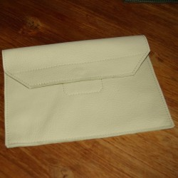 Leather tablet cover cream coloured