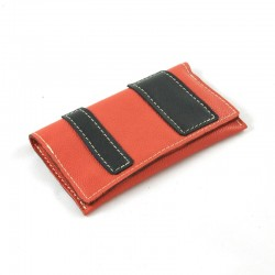 Leather tobacco pouch coral coloured fashion