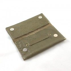 Leather tobacco pouch taupe coloured